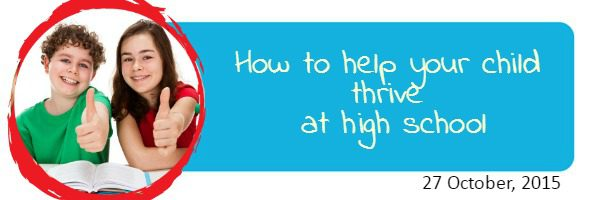 Free parent event: How to help your child thrive at high school