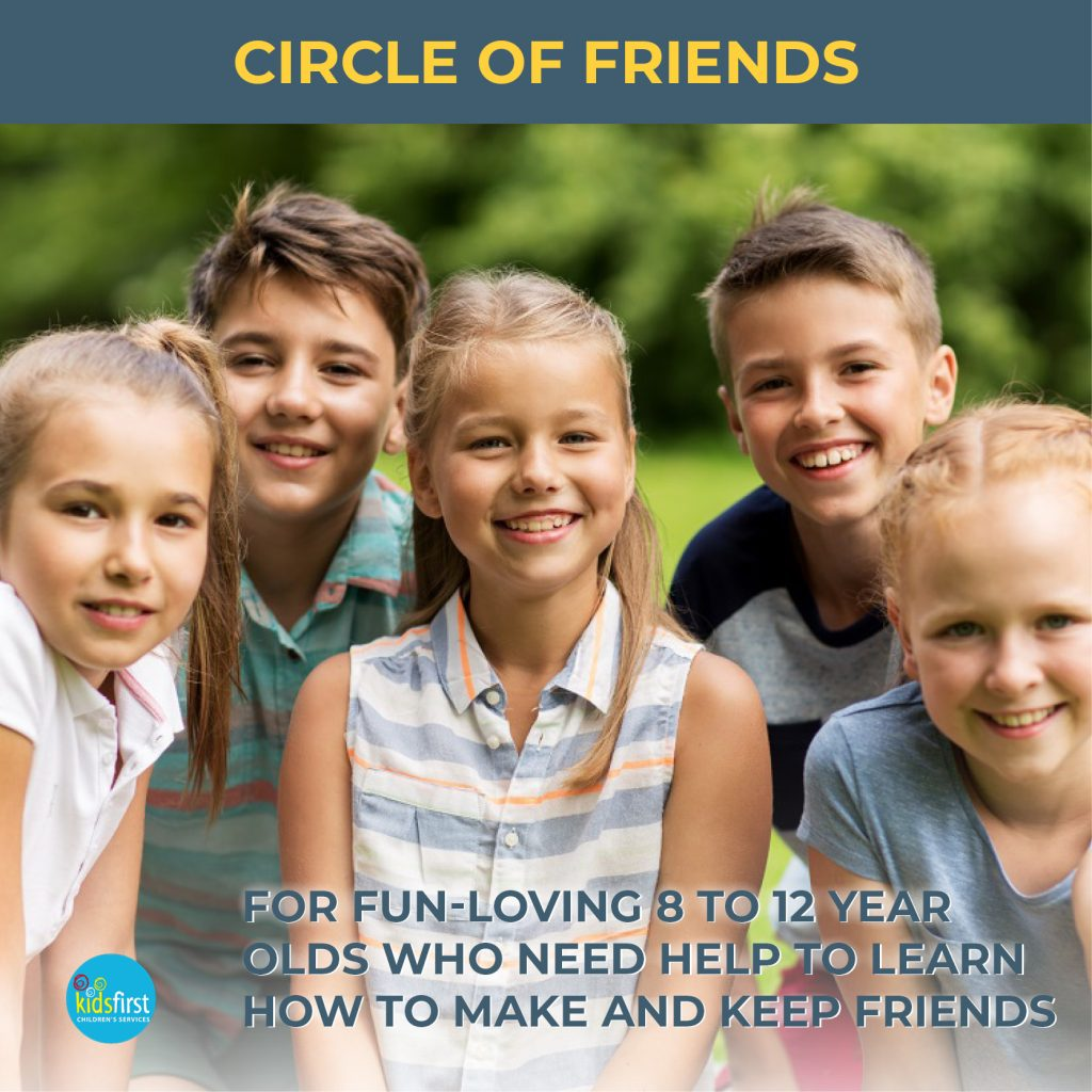 Circle of Friends Friendship Skills groups for children aged 8 to 12 at Kids First Children's Services Brookvale