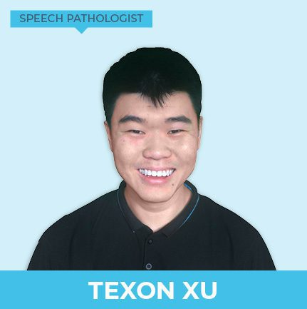 Texon Xu is a male speech pathologist who supports children at Kids First Children's Services